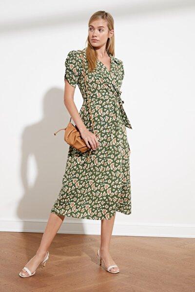 Çok Renkli Kuşaklı Desenli Elbise TWOSS20EL1936
