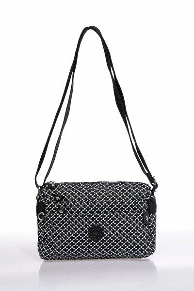 Smb1006-0127 Siyah/beyaz Kadın Çapraz Çanta