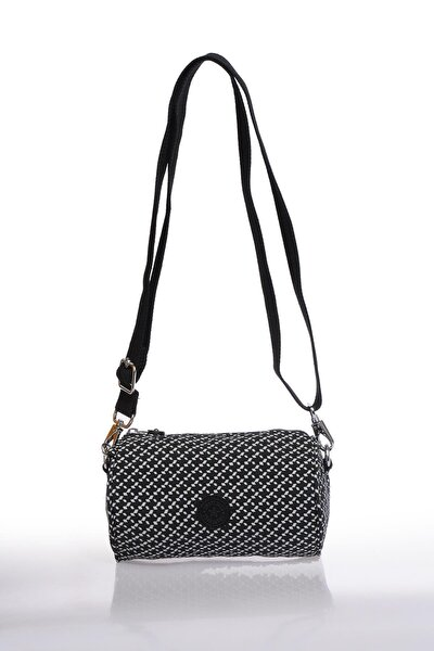 Smb3025-0127 Siyah/beyaz Kadın Çapraz Çanta