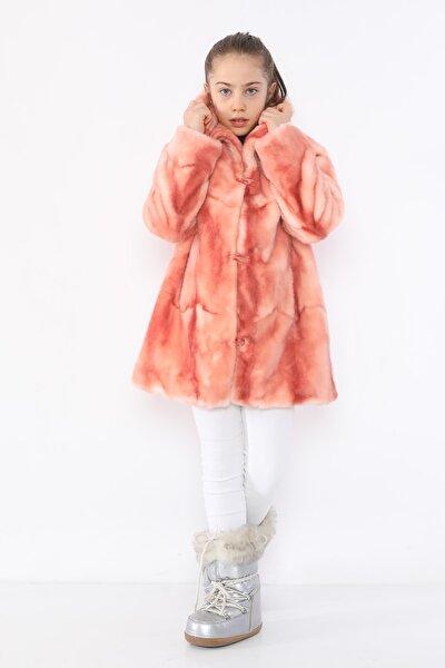 Kız Çocuk Pembe Kürk Mont