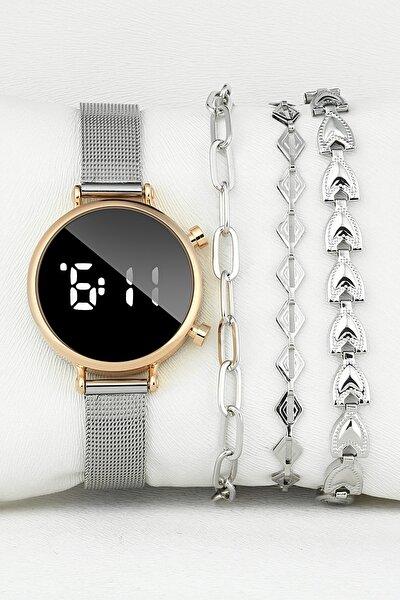 Dt1025h-bh-led-kmb-lux-04 Kadın Saat Bileklik Seti