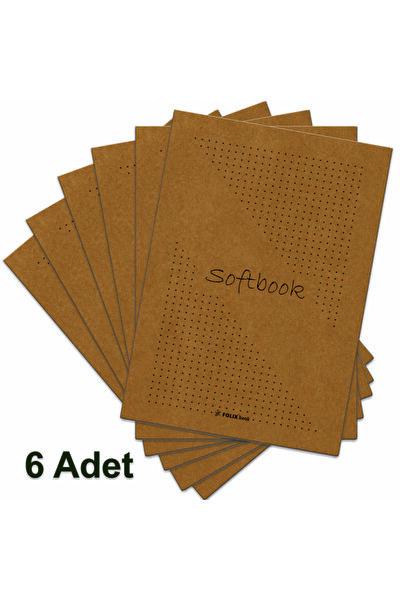 Kraft Kapak Noktalı Defter 6 Adet 15,5x23 Cm 50 Yp.