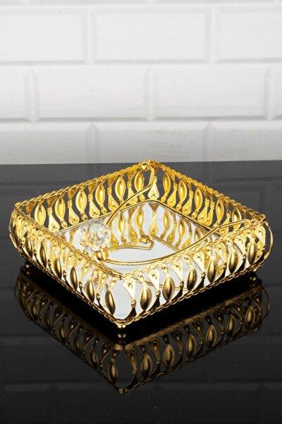 Altın Kaplama Aynalı Taşlı Peçetelik-hürrem