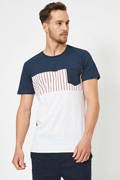 Erkek Gri Cep Detayli T-Shirt 0YAM14157OK