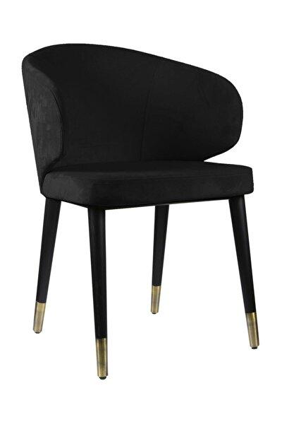 Hare Ahşap Sandalye Siyah