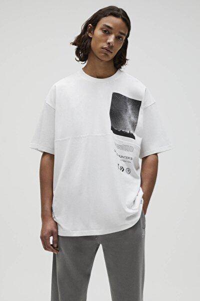 Basic Beyaz Fotoğraf Baskılı T-shirt