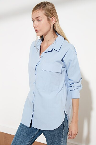 Mavi Cepli Gömlek TWOSS21GO0132