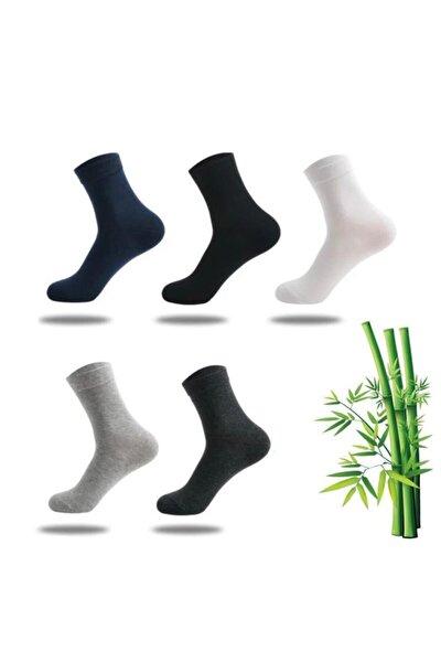 5 Lı Bambu Erkek Corabı