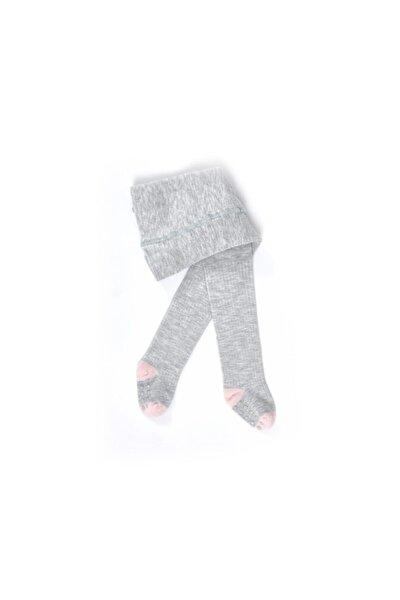 Bebek Gri Melanj Yummy Bambu Külotlu Çorap
