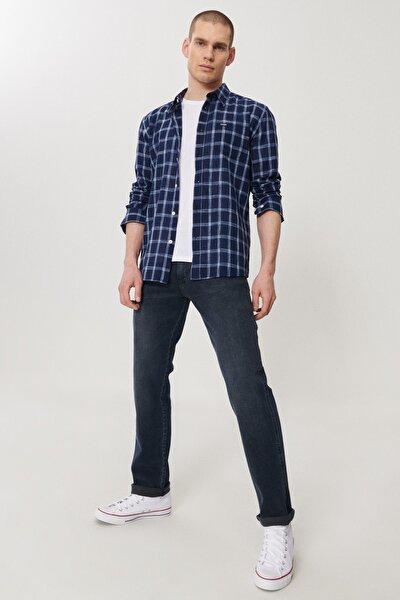 Arizona Erkek Mavi Straight Fit Normal Bel Düz Paça Esnek Jean Pantolon