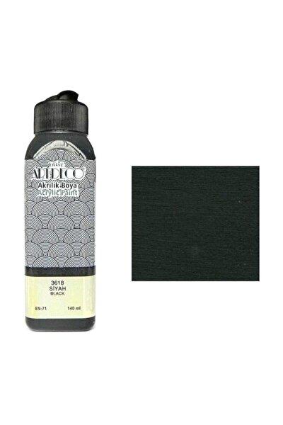 Akrilik Boya 140 ml. Siyah 70r-3618