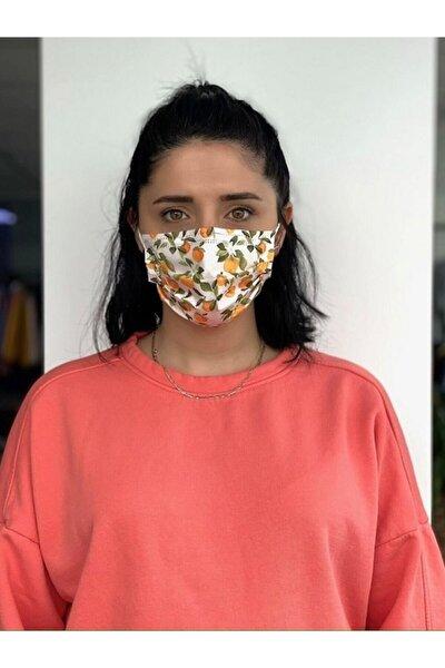 10 Adet Desenli Baskılı Maske, 3katlı, Burun Telli, Meltblown Ara Katmanlı