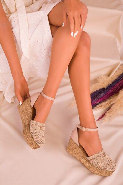 Ten Kadın Dolgu Topuklu Ayakkabı 16041