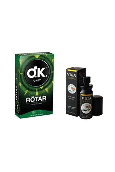 Okey Prezervatif Rötar + Viga Suprise Geciktirici Sprey Sp1