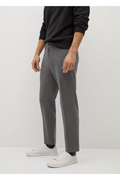 Erkek Gri Dar Kesim Koton Pantolon