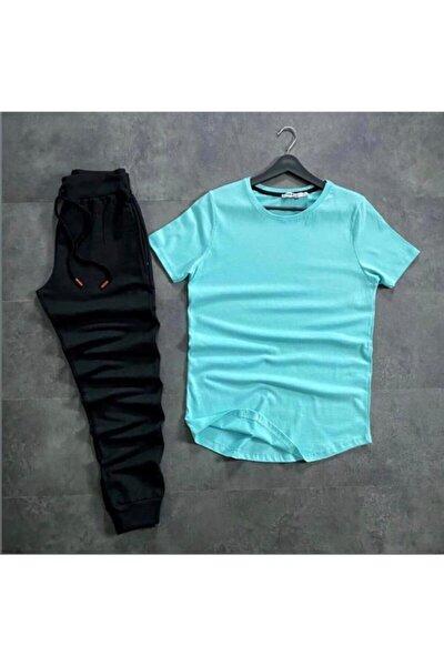 Erkek Basic Mint Tshirt Eşofman Ikili Takım