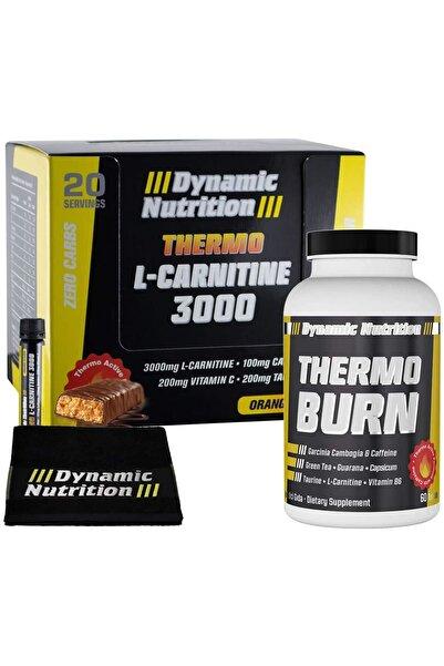 Dynamic Thermo L-Carnitine 3000 mg 20 Ampul + Thermo Burn 60 Tablet + 3 HEDİYE