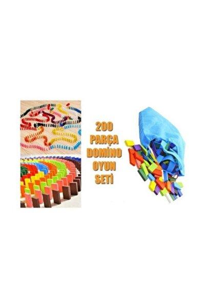 Domino Oyunu Ahşap 200 Parça