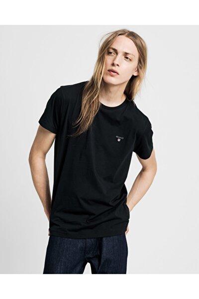 Erkek Siyah Standart Fit T-shirt