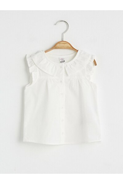 Kız Çocuk Ekru Düz Gömlek