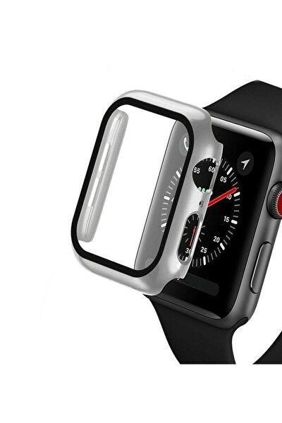 Apple Watch 40mm Uyumlu Tpu Çerçeveli Ekran Koruyuculu Ön Çerçeve Kılıf