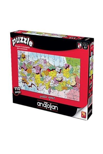 Puzzle Anatolian 110 Parça Türkiye Haritası Iller