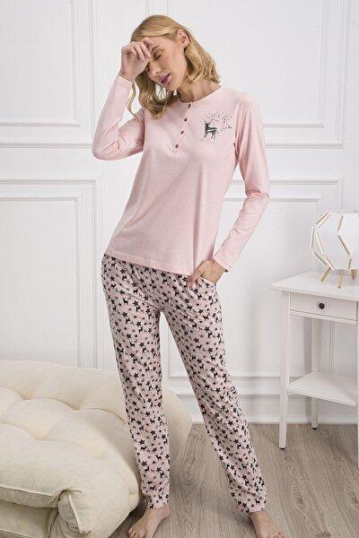 Kadın Somon Rengi Pijama Takımı