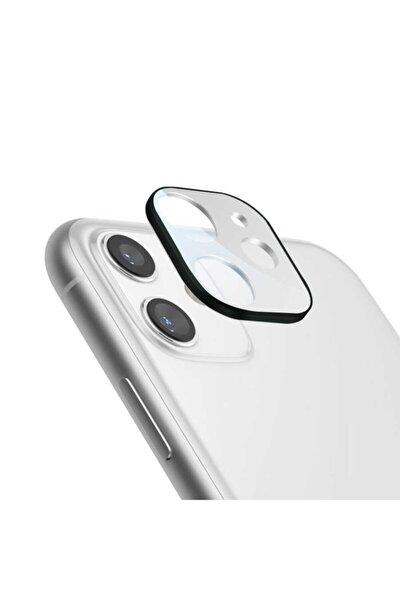 Iphone 11 Uyumlu Kamera Lens Beyaz Koruyucu