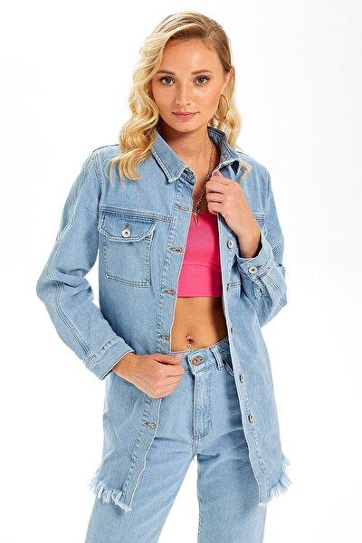 Lucia Denim Ceket Açık Mavi