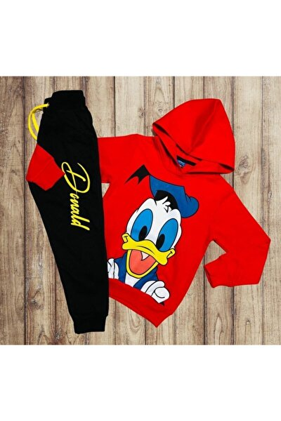 Donald Duck Ördek Baskılı Kapşonlu 2li Takım