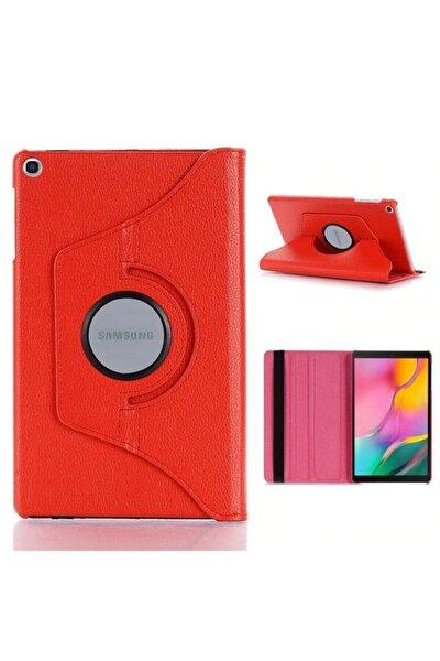 "Samsung Galaxy Tab A7 T500 T505 T507 Kılıf 10.4"" (2020) 360 Standlı Dönebilen Tablet Kılıfı Kırmızı"