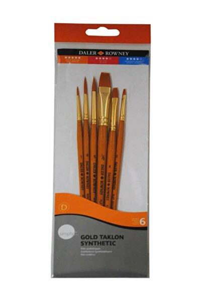 Gold Taklon Synthetic Fırça Seti 7'li