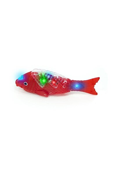 Müzikli Işıklı Yürüyen Balık 23 Cm Pil Ile Çalışan Oyuncak Balık