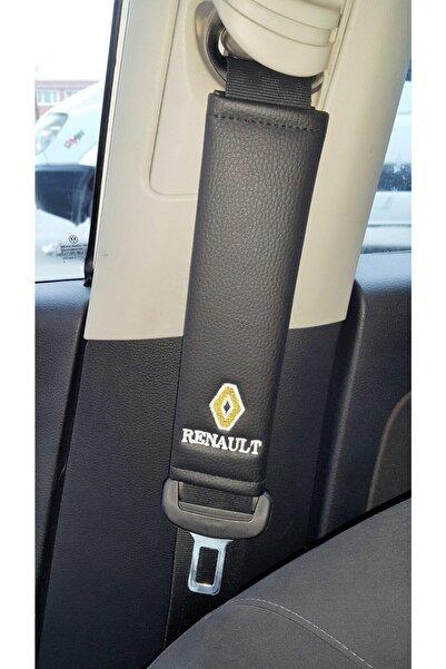 Renault Deri Emniyet Kemer Kılıfı Siyah