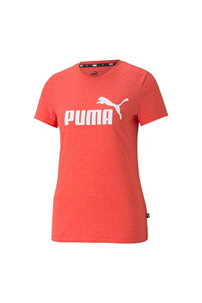 Kadın Spor T-Shirt - ESS Logo Heather - 58687623