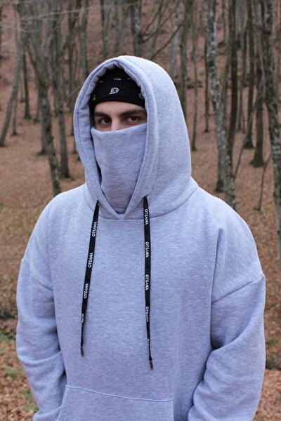 Antidote / Unisex Oversize Maskeli Sweatshirt