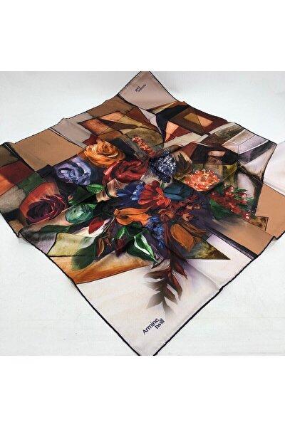 Çiçek Desen Twill (Tivil) Eşarp