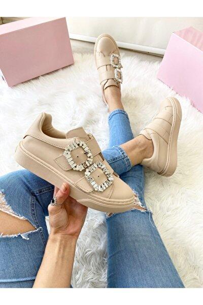 Kadın Nude Taslı Sneaker
