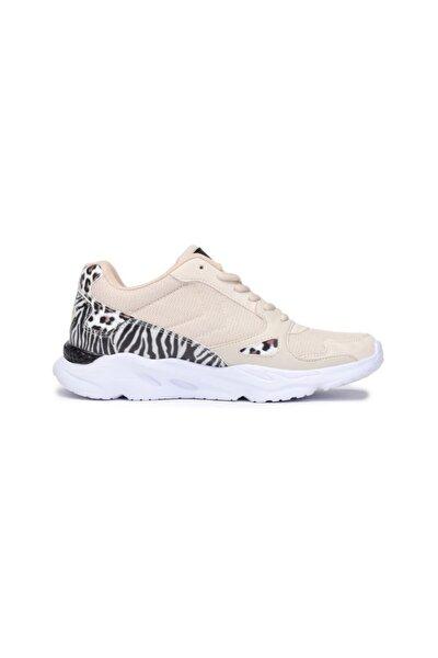 Kadın Beyaz Animal Print Sneaker