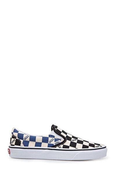 Unısex Siyah Kare Desenli Ayakkabı