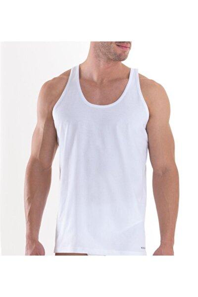 Erkek Beyaz 2'li Paket Loose Fit Atlet 9225