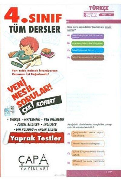 4.sınıf Tüm Dersler Yaprak Test - Yayınları
