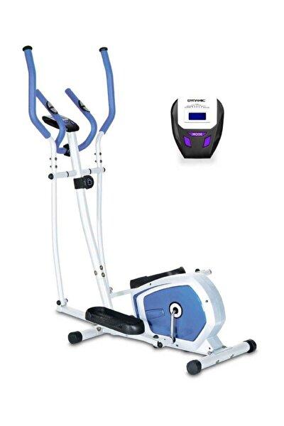 E16 Manyetik Eliptik Kondisyon Bisikleti -beyaz-mavi
