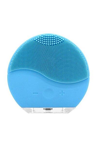 Mavi Şarj Edilebilir Yüz Temizleme Cihazı ve Masaj Aleti