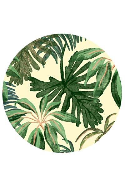 Design Tropic Yeşil Yapraklar Supla Amerikan Servisi 4 Lü Set