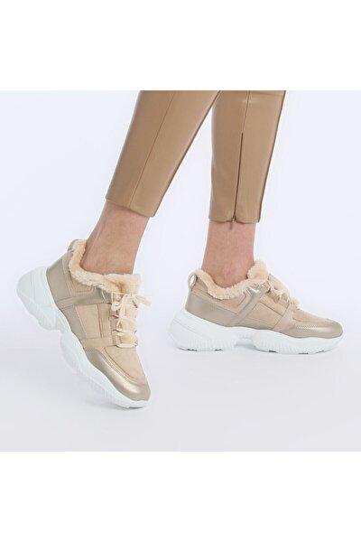Kadın Bej Fashion Sneaker 20k-607