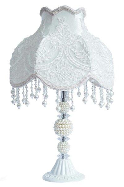 Dekoratif Abajur Gece Lambası Kırık Beyaz Ab0005