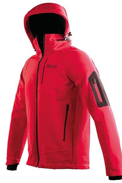 Erkek Kırmızı Kapüşonlu Kayak Montu