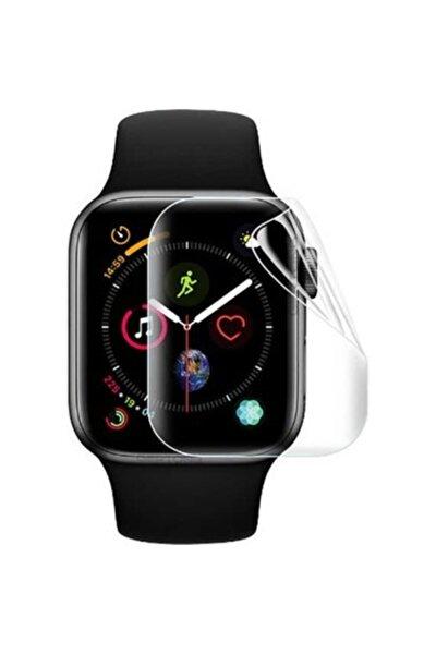 Apple Watch 44mm Şeffaf Ekran Koruyucu Nano Tam Kaplama