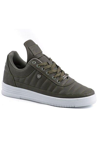 07 Haki Beyaz Dikişli Taban Unisex Spor Ayakkabı